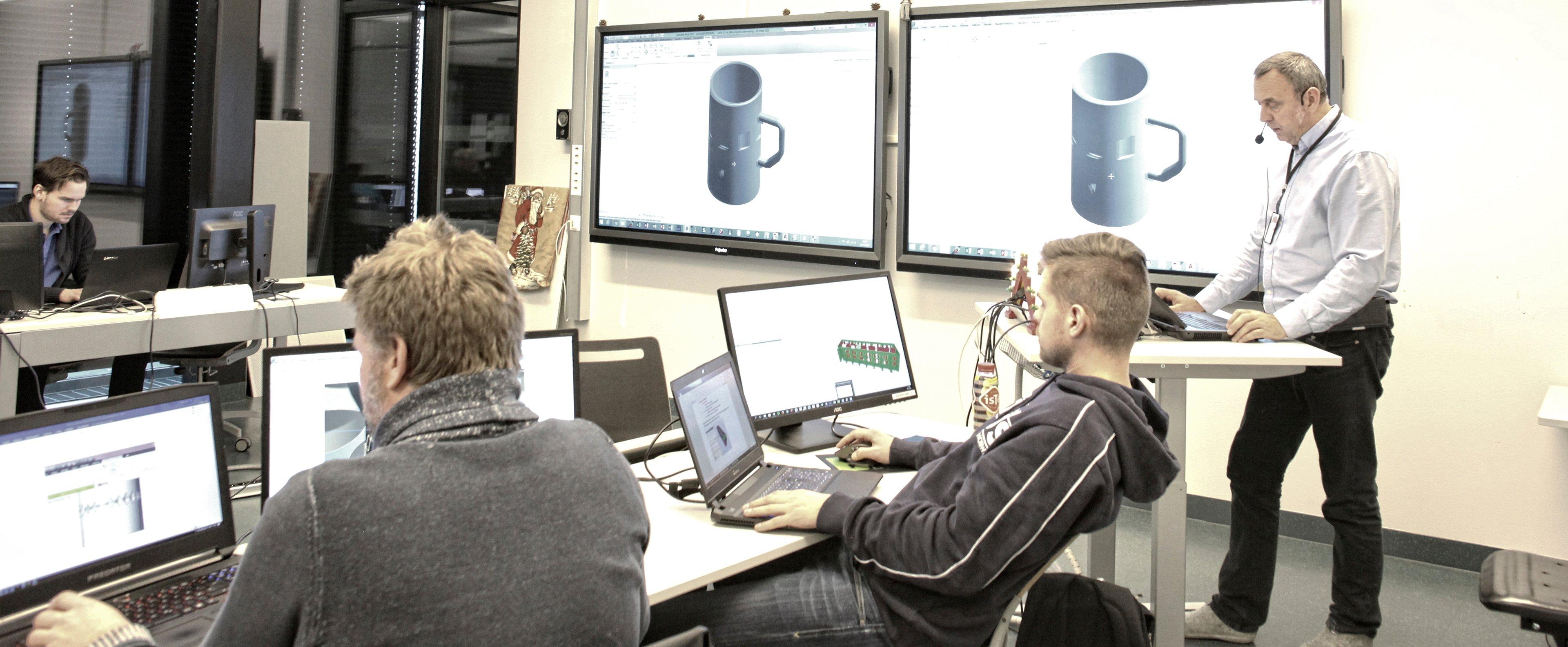 Header Interactive Norway Prowise BIM Fagskolen i Oslo og Akershus Kuben 2