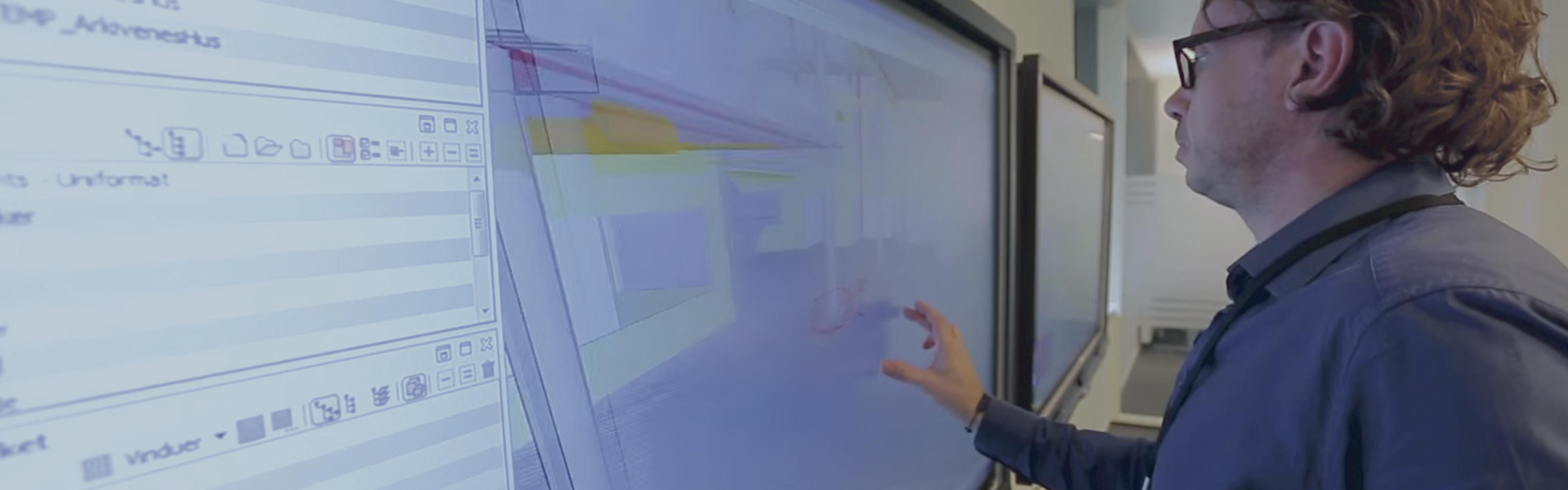 Header, Kruse Smith, interaktivitet SMART Board, BIM-rom