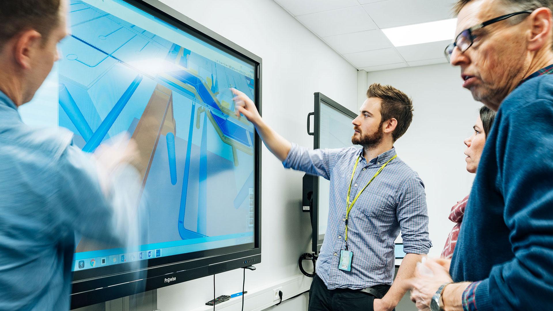 SKANSKA bygger Norge med interaktive skjermer fra Prowise!