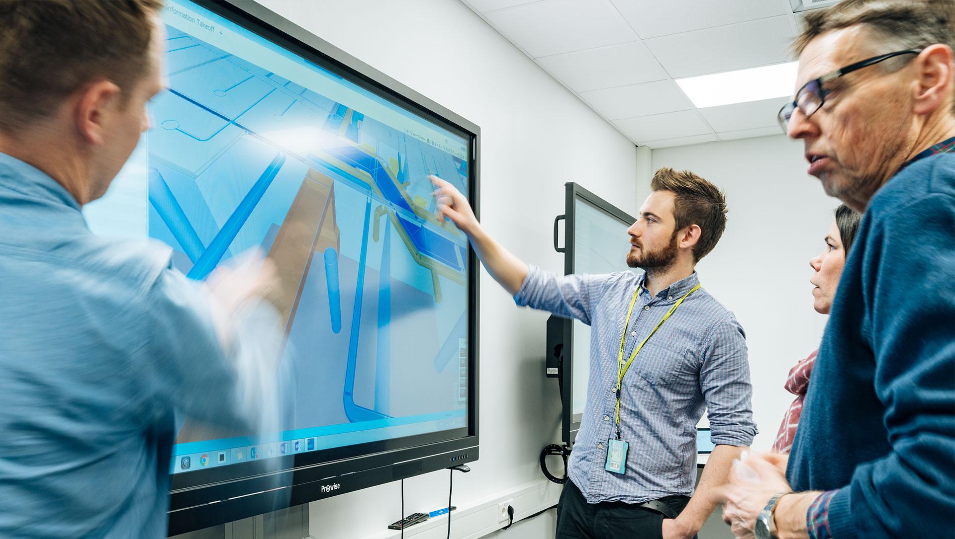 Skanska bygger Norge med Prowise skjermer