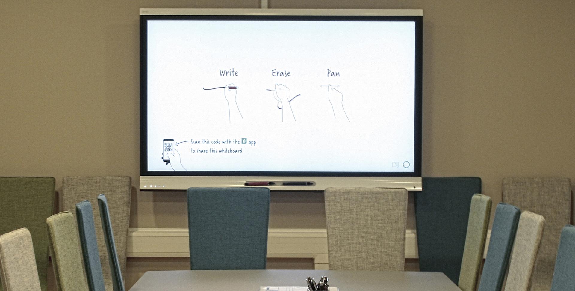 Advokatfirmaet Grette interaktiv SMART kapp iQ flatskjerm touch, liten teaser