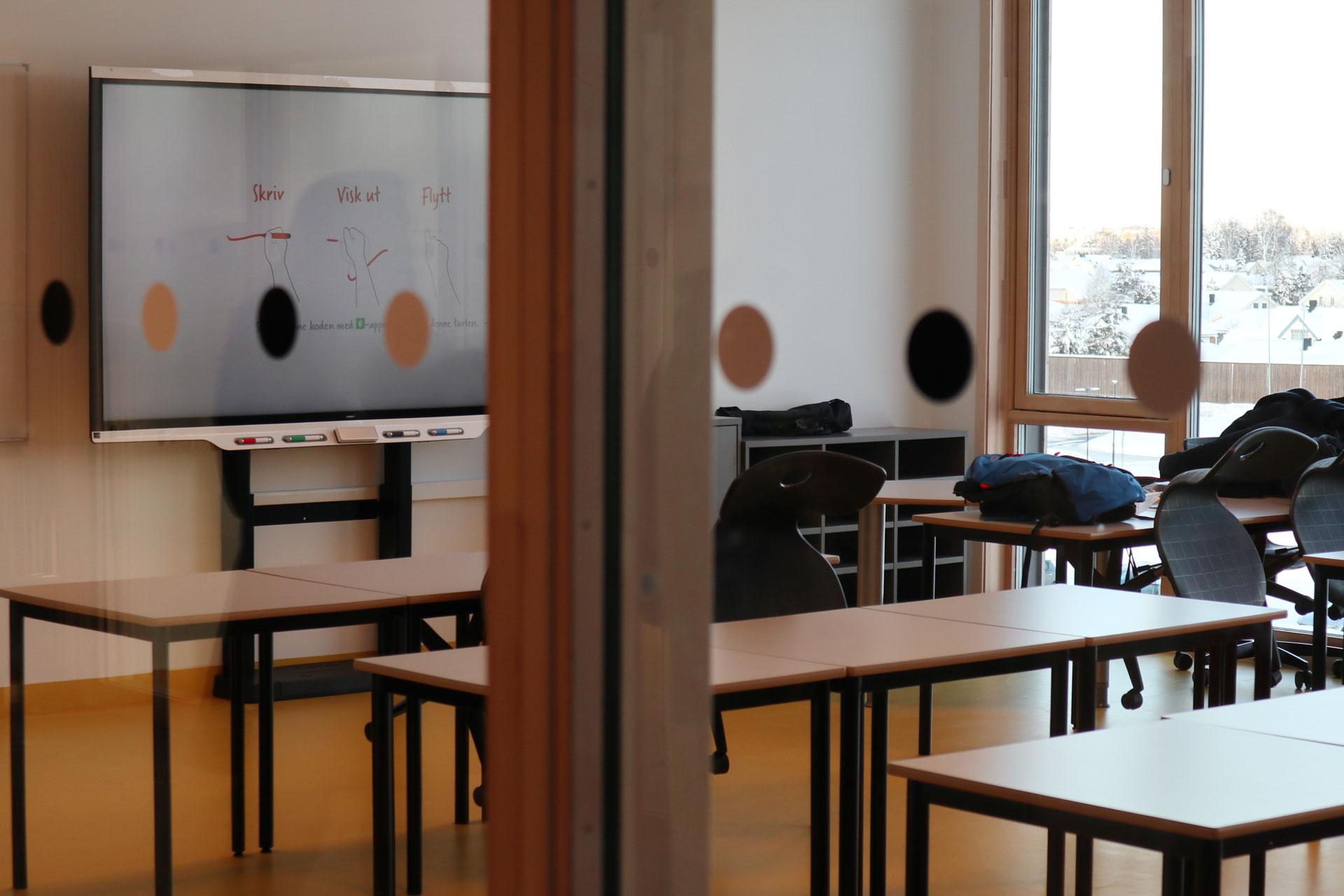 Artikkel Smart board moderne avansert gystadmarka ungdomsskole