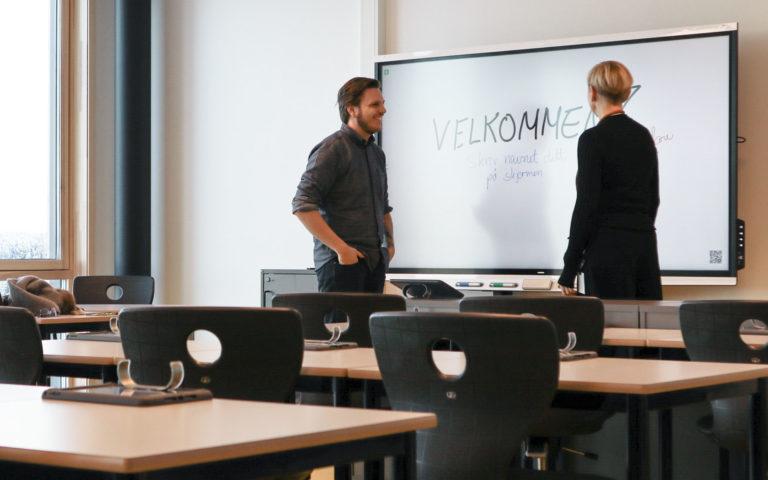 Forsidel-Smart-board-moderne-avansert-gystadmarka-ungdomsskole