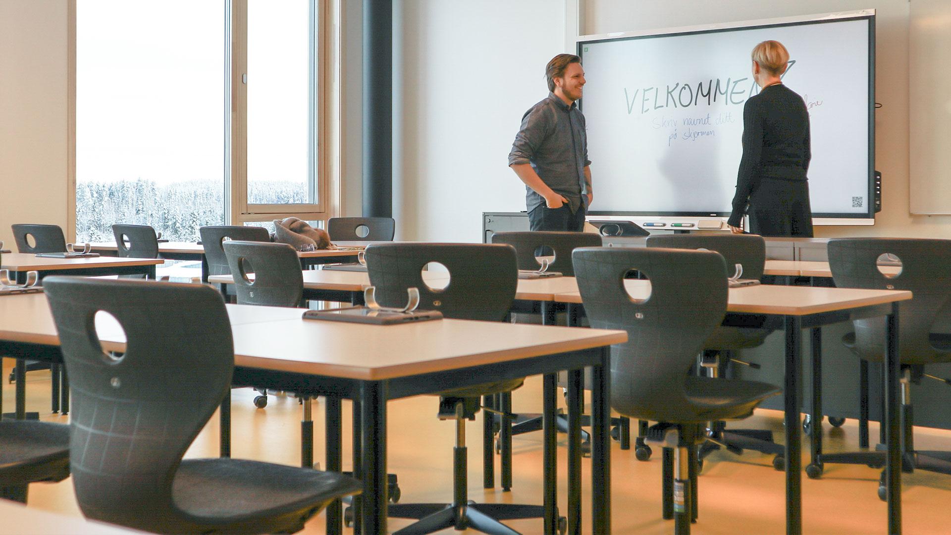 Gystadmarka Ungdomsskole Ullensaker smartboard smart board referansecase