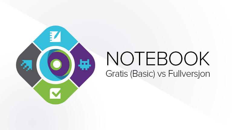 Notebook Basic vs fullversjon