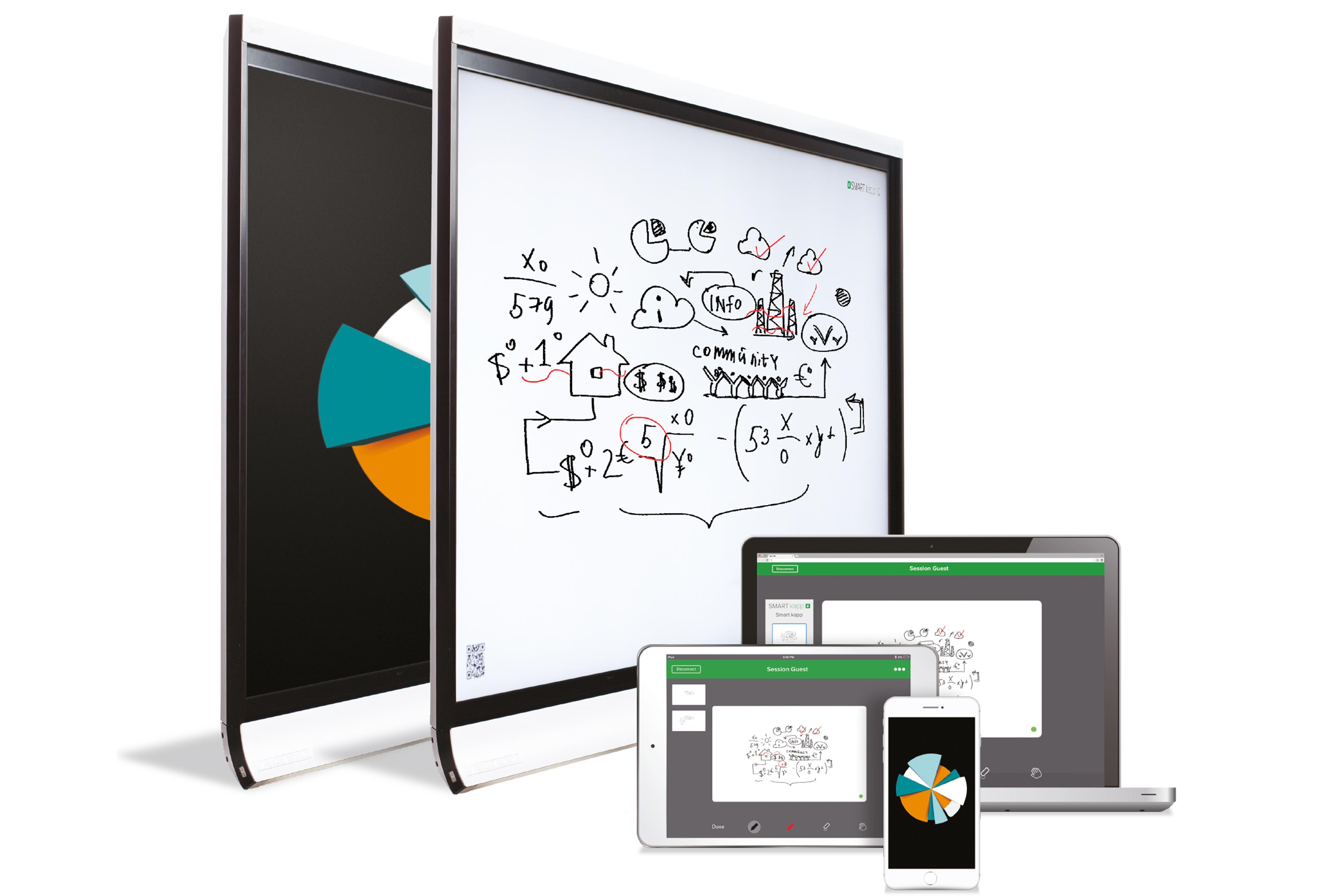SMART kapp iQ interaktiv touch skjerm til møterom, stort