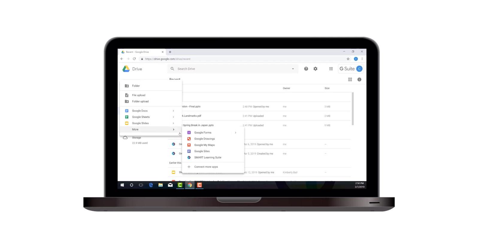Google drive integrasjon